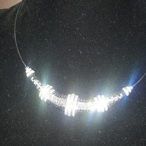 necklace in fine Swarovski diamonds